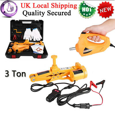 3Ton Heavy Duty 12V Hydraulic Trolley Floor Electric Jack Garage Car Van Lifting