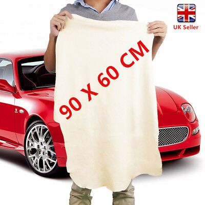 Natural Chamois Leather Cloth Extra Large Car Cleaning Washing Drying Towel cckk
