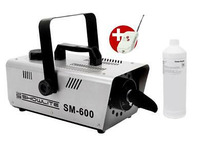 Showlite Sm-600 Schneemaschine 600W Foto Studio Film  Effekt Set 1L Snow Fluid