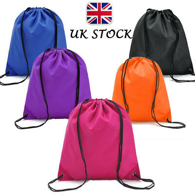 Waterproof Nylon Storage Bags Drawstring Backpack Baby Travel Shoes Pouch UK