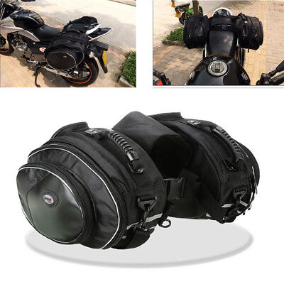 2X Multi-Functional Polyester Encryption Oxford Motorcycle Saddle Bags With Band