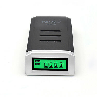 Palo Smart LCD Charger for AA / AAA NiCd NiMh Rechargeable Battery Cell 4 Slots