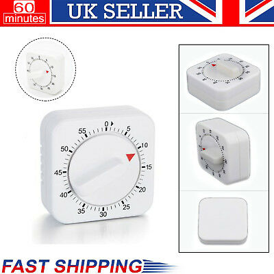 60 Minutes Kitchen Timer Cooking Ring Mechanical Counter WIND-UP Alarm Clock UK