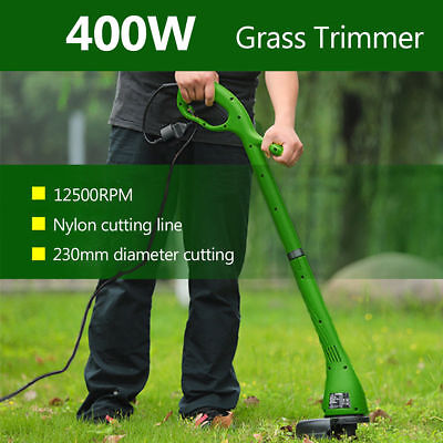 UK 400W Electric Grass Trimmer Strimmer Cutter Lawnmower Heavy Duty Lawn Pruning