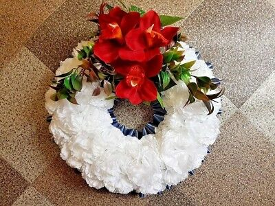 Wreath Silk Artificial Funeral Flowers Wreath/Memorial/Grave Tribute