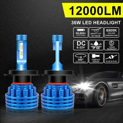 Pair 136W H4 9003 OSRAM LED Headlights Kit Bulb Globes High/Low Beam Replace HID