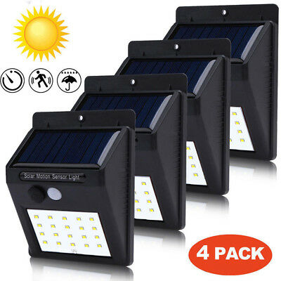 Solar Power 30 LED PIR Motion Sensor Wall Light Outdoor Garden Waterproof Lamp