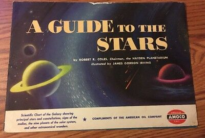 A GUIDE TO THE STARS Rare 1951 AMOCO American Oil Company Vintage Fold-Out Book