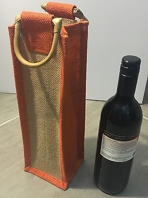 Echo Friendly Mother's Day Gift -Jute Bag Wine Bottle,champagne Bag with Handles