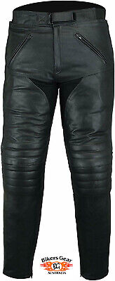 Australian Bikers Gear Motorcycle Sturgis Leather Touring Jean Trouser CE Armour