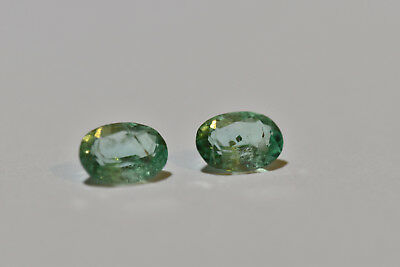 Emerald 1.47ct a pair of oval cut natural Emeralds