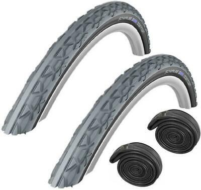 """Schwalbe DOWNTOWN 24"""" x 1-3/8"""" Grey / Black Puncture Protected Wheelchair Tyre"""