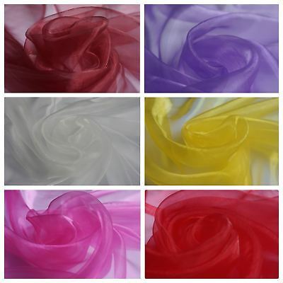 Plain Organza (Voile) Fabric - Weddings - Events (Per Metre) - Various Colours