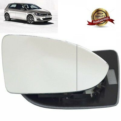 Right driver side wing door mirror heated glass for VW Golf mk7 2013-17 clip on