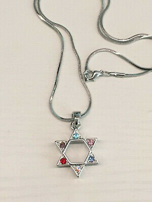 Star of David With Menorah  Necklace - SHIPPING FROM USA