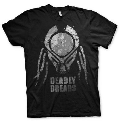 Officially Licensed Predator Deadly Dreads Iconic Men's T-Shirt S-XXL Sizes