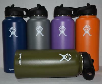 Hydro Flask 40oz Water Bottle Stainless Steel Insulated Wide Mouth Straw Drink