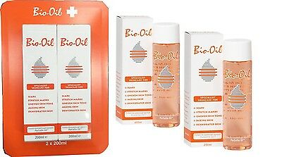Bio Oil 2x 200ml Specialist for Scars Stretch Marks Dehydrated Ageing Skin
