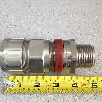 """Hawke Type 711 Size B 3//4/"""" NPT Cable Gland Connector Sealing Fitting Hazards Loc"""