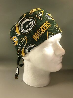PACKERS: Surgical Scrub Hat, Chefs Hat, Skull Cap - M212