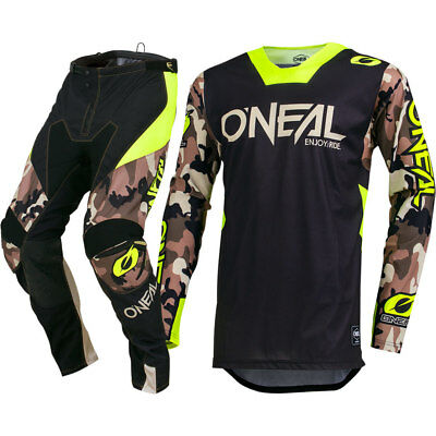 NEW Oneal 2019 MX Mayhem Ambush Camo Neon Jersey Pant Adult Motocross Gear Set
