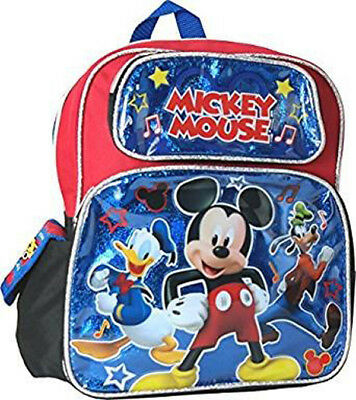 DISNEY MICKEY MOUSE Kids Toddler Backpack School Bookbag Boys 12 ... 90e6ff51919e8