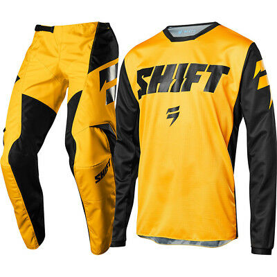 NEW Shift 2018 Mx Youth WHIT3 Label Ninety Seven Yellow Kids Motocross Gear Set