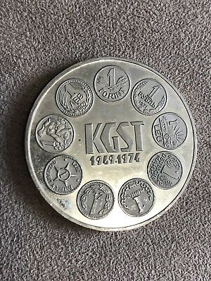 Hungary 1974 100 Forint Proof Silver Coin 25th Anniversary Of KGST