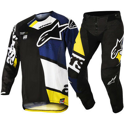 Alpinestars NEW Mx 2018 Techstar Factory Black Navy Adults Motocross Gear Set