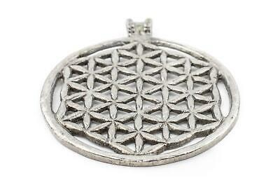 Silver Om Pendant 65x65mm Nepal White Metal Large Hole