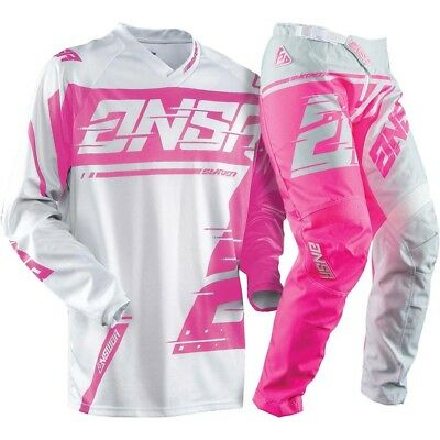 Answer NEW MXx 2018 ANSR Syncron Grey Pink Kids Girls Youth Motocross Gear Set