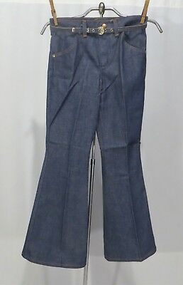 Vintage Wrangler Jeans Bell Bottom Pants NWT Girls sz 10 w Belt denim