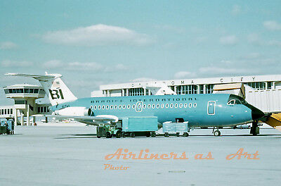 """Braniff International BAC 1-11 N1541 at OKC in 1967 8""""x12"""" Color Print"""