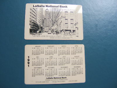 Vintage lot of 12 LaSalle National Bank pocket 1991 calender