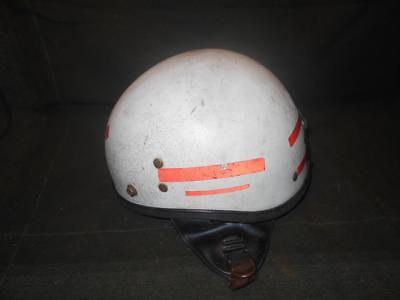 Vintage 1950 S 60 S Buco Motorcycle Helmet Half Shell Racing Stripes