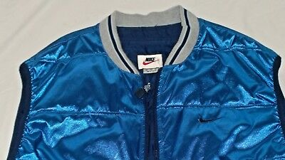 Mens XL XXL Mint Vintage 1980s Nike Vest Minty Sweet Metallic Blue Color Rare