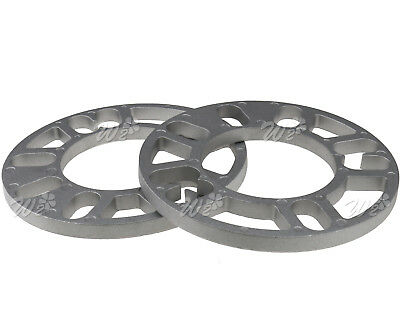 Alloy Wheel Spacers 2 X 10Mm Shims Spacer Aluminum Universal 4 And 5 Stud Fit