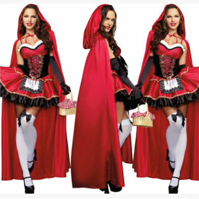 US Chic Plus Size Little Red Riding Hood Costume Cosplay Adult Halloween Costume