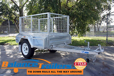 5x3 GALVANISED FULLY WELDED TIPPER BOX TRAILER WITH 600mm CAGE