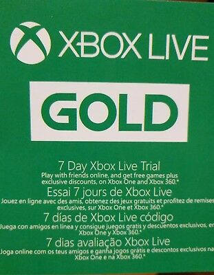 Xbox Live Gold 7 Day (1 Week) Trial