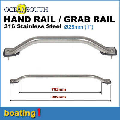 316 STAINLESS STEEL 762mm SS MARINE HAND/GRAB RAIL - Boat/Yacht Handrail 25 dia