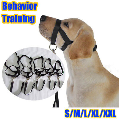 Pet Dogs Muzzle S-XL Adjustable Nylon Mouth Mask Stop Barking Chewing/Training