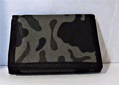 Amazing Green Camouflage  Tri-Fold Canvas Wallet . Buy 3 And Get 1 Free .