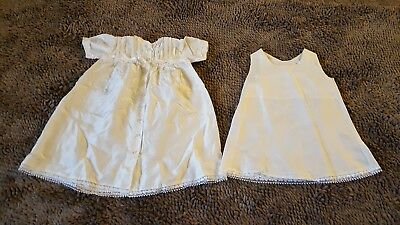 Vintage*2pc Creme Silk Gown+Cover*Newborn Baby Girl 0-6mos*EVC