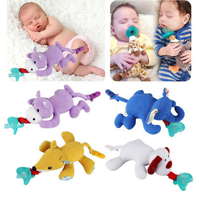 Baby Dummy Pacifier Chain Clip Plush Animal Toys Soother Nipples Holder