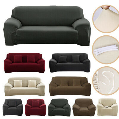 NEW 1/2/3 Seater Stretch Sofa Couch Cover Settee Recliner Slipcover Protector