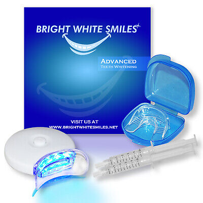 Teeth Whitening Gel Tooth Whitener LED Professional Bright White Smile Snow Kit