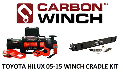 Carbon 12K 12000lb Electric winch with Suits Toyota Hilux in bumper winch cradle