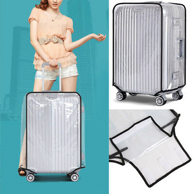 PVC Clear Protective Cover Case for 20''-30'' Travel Plastic Luggage Suitcase AU