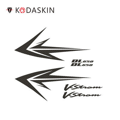 KODASKIN for SUZUKI Vstrom DL650 DL650 Vstrom Carbon Stickers Motorcycle Decals